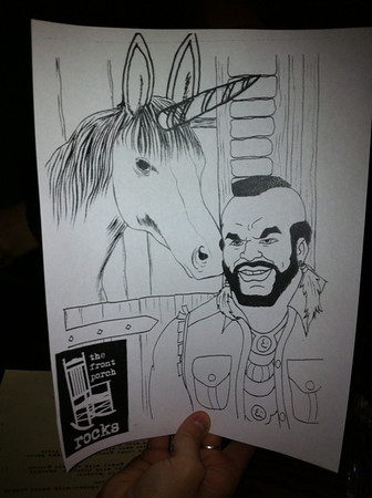 Mr. T and a unicorn